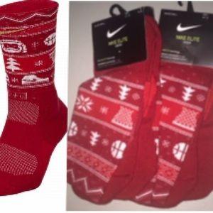 2 PAIRS Nike Elite Basketball Christmas 🎄Socks XL